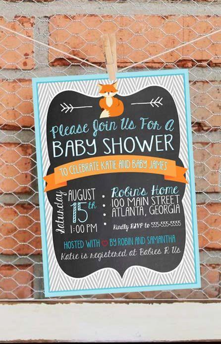 Fox Baby Shower Invitation  Fox Baby by LibertyAndLilacPaper