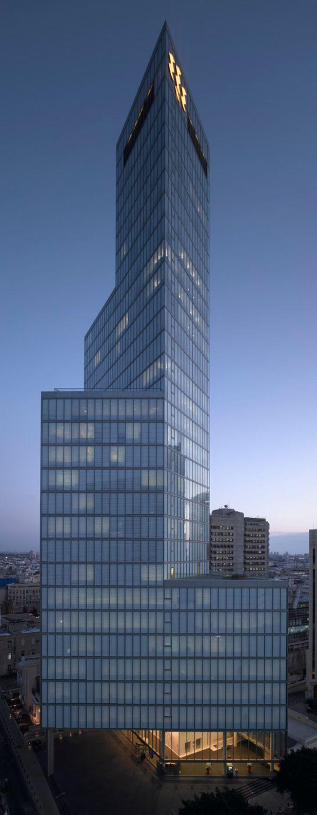 First International Bank Tower   Tel Aviv, Israel   Pei Cobb Freed & Partners   photo by Amit Geron