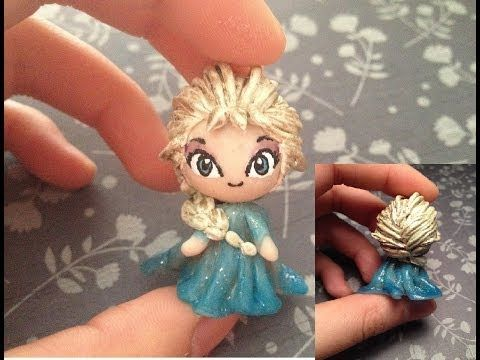 """Clay Tutorial: Elsa from """"Frozen""""                                                                 http://www.youtube.com/user/ClayTutorials101/videosi wonder if I could do this."""