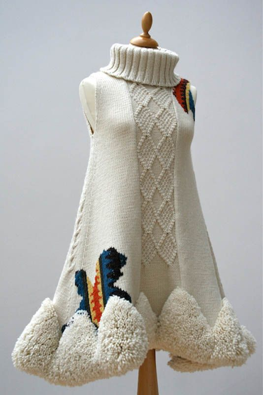 What a way to rock a poncho! By Judith Watson