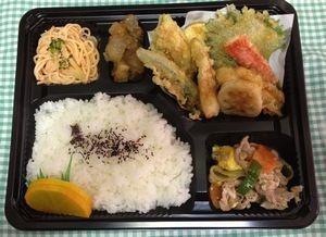 2012年12月17日(月)ランチメニュー:天ぷら/豚肉と卵の中華風/マーボー大根/明太子クリームパスタ