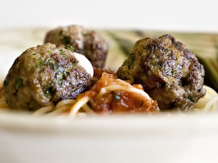 Mozzarella Stuffed Meatballs | Recipe | Cheese meatballs, Philly ...