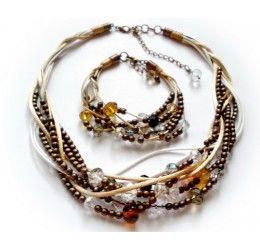 Set bijuterii handmade incalcit