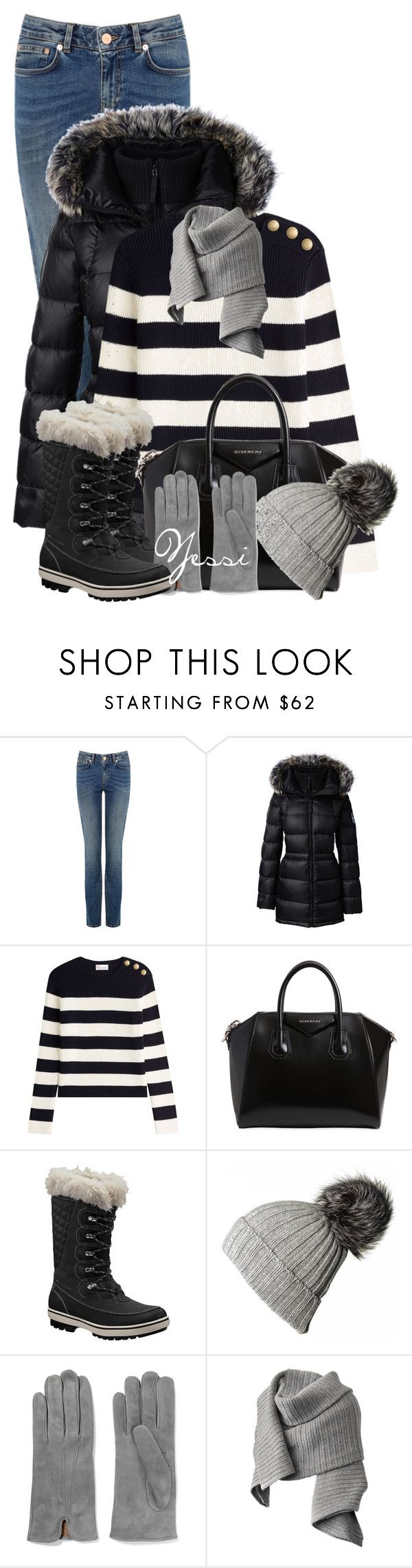"""""""~ 💕 Cold Weather Fashion 💕 ~"""" by pretty-fashion-designs ❤ liked on Polyvore featuring Lands' End, RED Valentino, Givenchy, Helly Hansen, Black, 8 and Acne Studios"""