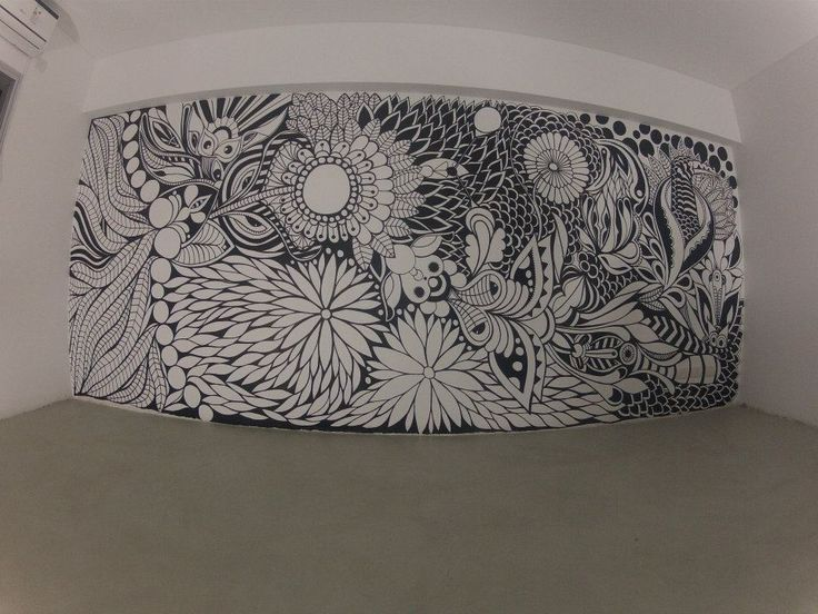 ©MarianoPadilla - Mural - Wall Painting  - Uni Posca on 16m² wall  - Soup Studio