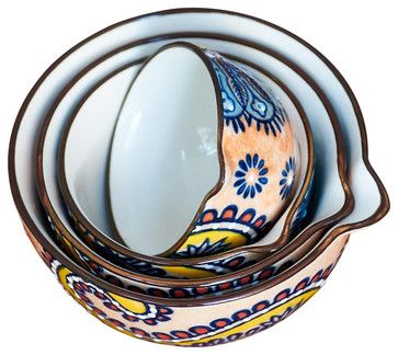Paisley Measuring Cups - traditional - kitchen tools - COULEUR NATURE