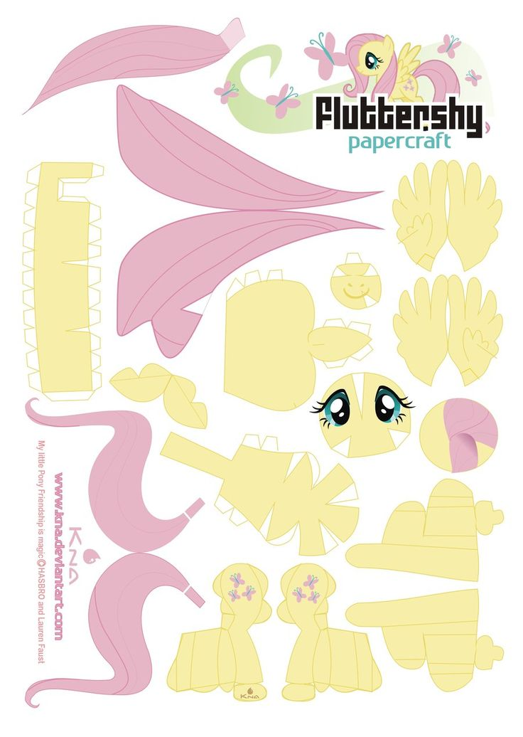 Fluttershy Papercraft by Kna.deviantart.com on @deviantART