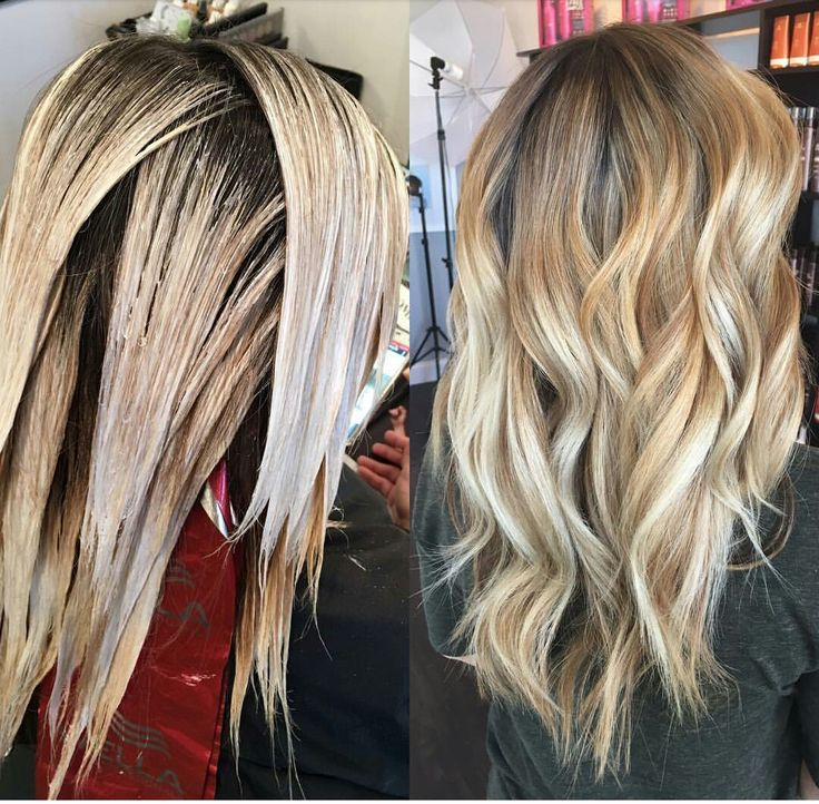 Full head blonde Balayage