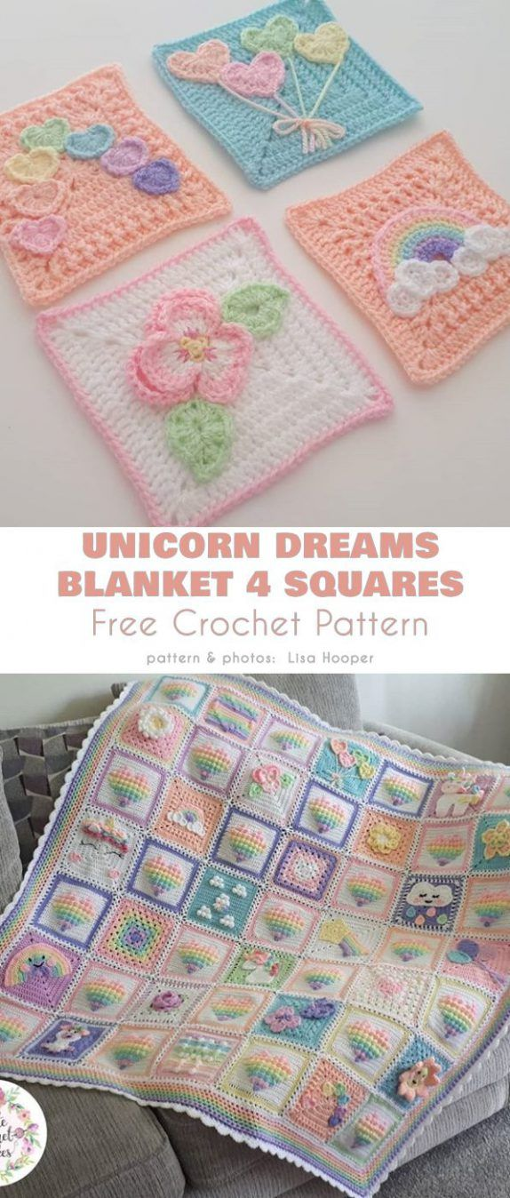 Unicorn Dreams Blanket Free Crochet Pattern