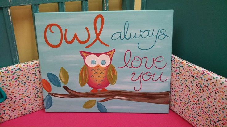 """16""""x20"""" acrylic on canvas """"Owl Always Love You"""""""