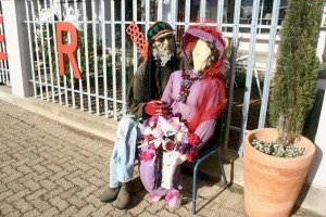 Scarecrows are an added attraction at the Napier Patatfees ...
