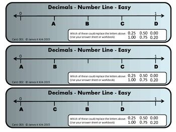 Decimals: Decimal cards for easy learning. A great resource. These Decimals Card Challenges are a great resource for math stations and as a school or home resource.Decimals Card: Number Lines and Place ValueDecimals on Number LinesDecimal Place Value(We also have a 'fractions on number lines' version to download) - Years 2-5.Decimal Cards: Number Lines and Place Value (NEW)66 Decimal Flash Cards: Number Line and Place Value Challenges   - 1 decimal challenge and number line per card  - 3 per…