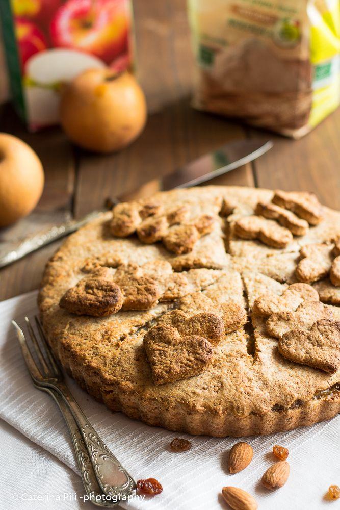 apple pie vegana integrale senza zucchero aggiunto ,un dolce naturale buono per tutti