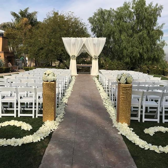 Our beautiful private garden ceremony site with extra ...