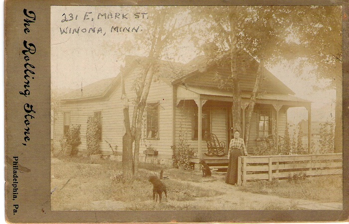 Abraham & Mary (Hammell) homestead at 231 E. Mark St., Winona, Minnesota, moved there from New York to Illinois then Minnesota in 1856.