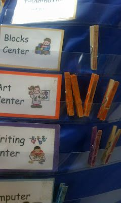 For next year-make a board with all the choices rather than having it at each individual center. Adventures in Kindergarten: Organizing Kindergarten