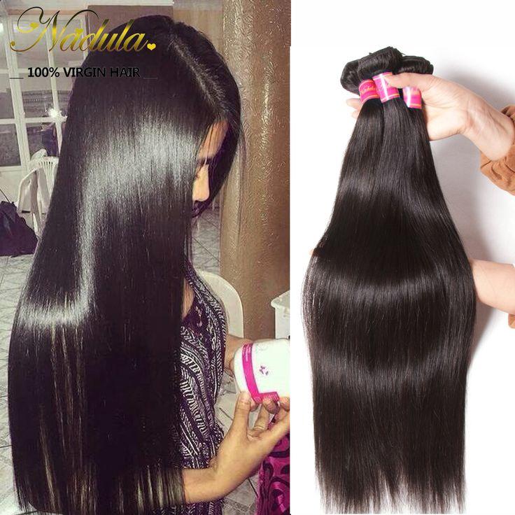 Peruanische Reine Haar Gerade 3 Stücke Viel Peruanischen Glattes Haar Bundles 100% Unverarbeitete Peruanische Menschenhaarwebart Nadula Hair