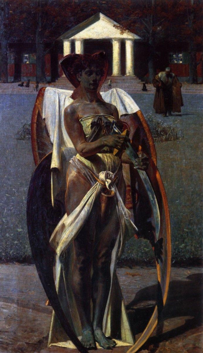 """Jacek Malczewski - ,,Thanatos"""", 1898"""