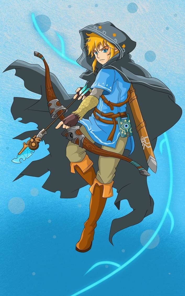 Legend Of Zelda Breath Of The Wild Art Link Ready With His Bow Arrow Botw Insahn Cry Anime Personagens Masculinos Girls Anime