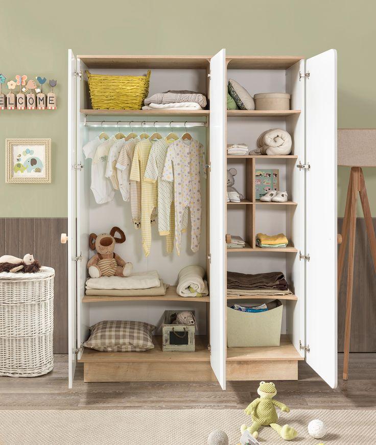 Детский трехдверный шкаф Cilek Baby Natura