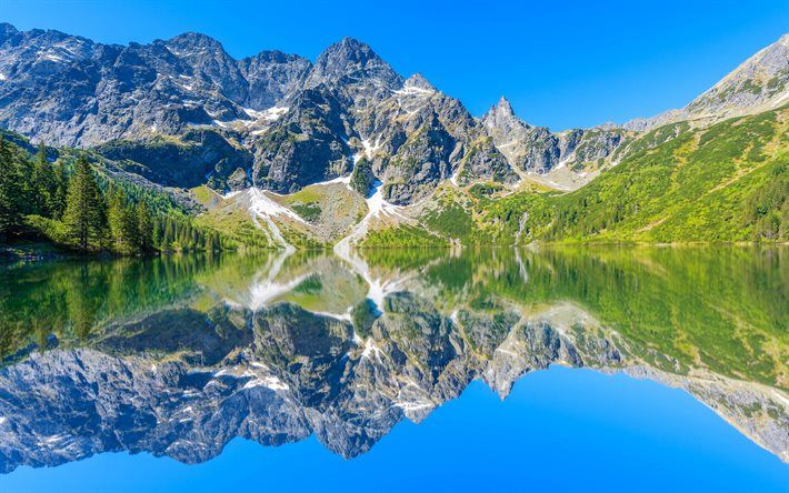 Tatra National Park, Morskie Oko Lake, summer, Tatra Mountains, Poland