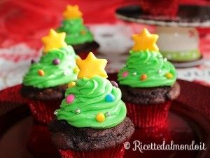 Cupcakes Albero di Natale