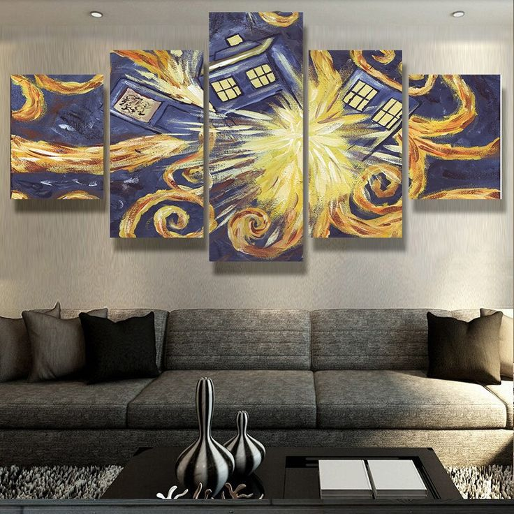 Doctor Who Van Gogh 5 Piece Canvas