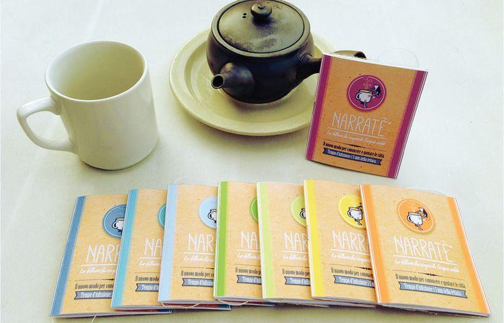 Narratè: innovazione di food design presente anche ad Expo 2015. Unire il piacere del tè a una lettura breve. Giusto il tempo di un'infusione.
