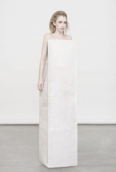 I just love the uniqueness of this gown. The straight lines and corners really add dimension