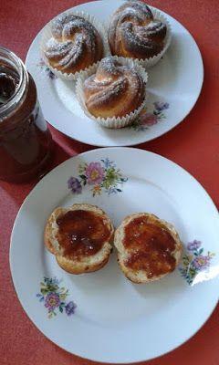 Rózsa briós - muffin