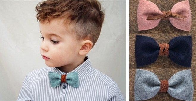 Felt & Leather Bow Tie