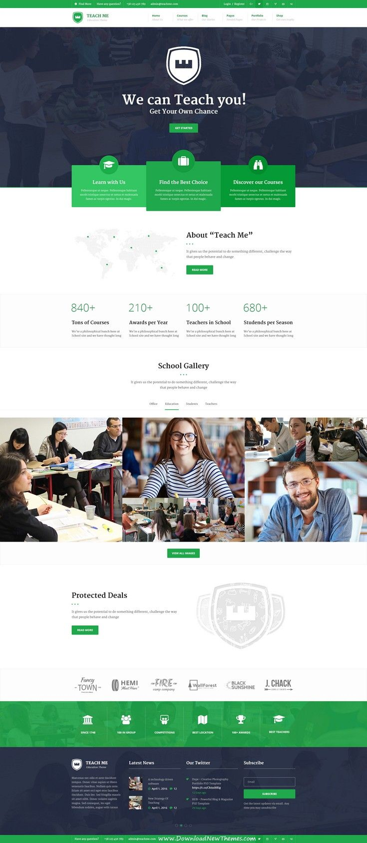 Teach Me PSD Template ready for any education purpose or your own website solution. This Theme goes with 5 Different Homepages, Blog layouts, WooCommerce, bbPress Forum, Contact Us and About Us Pages. Widgets and Needed Pages Ready. #edutech