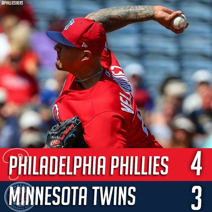 The Phillies have now won two in a row improving their Spring Training record to 4-8. It's still bad but progress is always good. The Phils beat the Minnesota Twins 4-3 in Clearwater this afternoon. Vince Velasquez got the start throwing two shutout innings. Carlos Santana Rhys Hoskins and J.P. Crawford were all in the starting lineup. - Win: Vince Velasquez (1-1) Loss: Kyle Gibson (0-1) Save: Garrett Cleavinger (1) - Hitting Highlights:  Rhys Hoskins went 1-3 but scored twice and hit his…