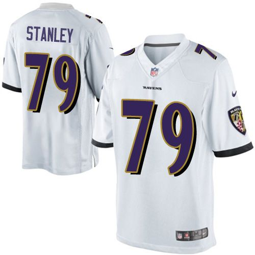 $24.99 Youth Nike Baltimore Ravens #79 Ronnie Stanley Limited White NFL Jersey