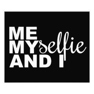 Me Myselfie and I Funny Selfie Photo Art