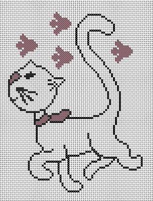 grilles point de croix: grilles chats