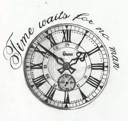Tattoo Designs Time: Time Waits For No Man Tattoo Drawing