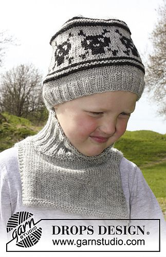 Captain Jacks Hat FREE PATTERN- childs hat with skull pattern and neck warmer in sizes from 3-12 years I know a few little boys who would love this hat (and a few big ones too!!!)