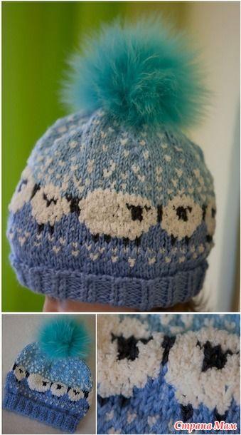 Связала эту шапочку в пару к шапочке с лисичками для второй дочки. Шапка с лисичками вот здесь: http://www.stranamam.ru/  Оригинал от автора вот здесь: