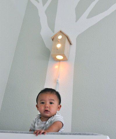 Free Shipping Jasper Modern Birdhouse Lamp by moderntreetopbaby. $100.00, via Etsy.