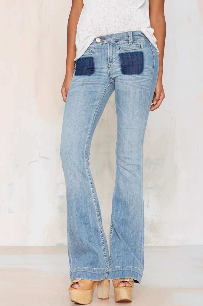 Dittos Joni High-Rise Flare Jeans