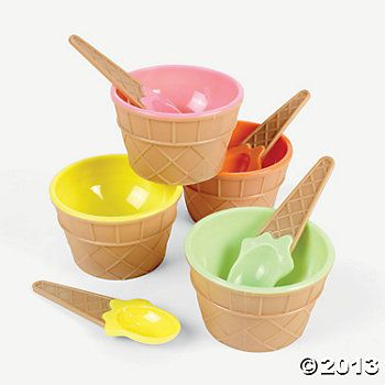 Ice Cream Dishes http://www.orientaltrading.com/ice-cream-dishes-a2-26_2047-12-1.fltr?Ntt=ice+cream