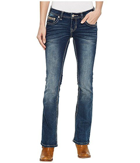 fb95118d62a Rock and Roll Cowgirl Rival Bootcut Jeans in Dark Vintage W6-5078 ...