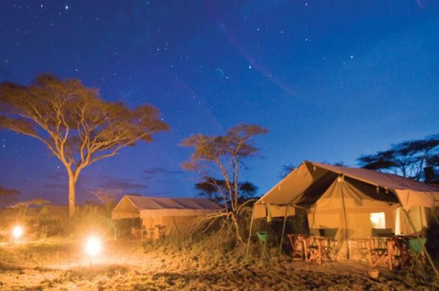 As a general rule mobile tented safaris will only operate in the national parks in Botswana. So your guide will not be able to drive off road to track animals and must be back at camp by sunset.