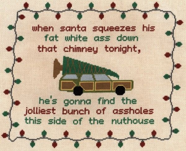 Christmas Vacation Quotation Cross Stitch by deltiolog