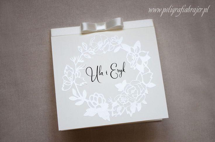 Zaproszenia ślubne z motywem perłowego wianka,wedding invitations wreath, boho,
