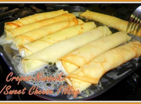 Crepes-Nalesniki w/Sweet Cheese Filling Recipe