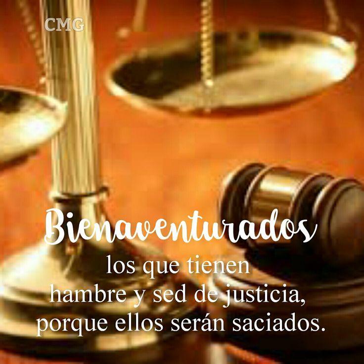 Bienaventurados los que tienen hambre y sed de justicia, porque ellos serán saciados. S. Mateo 5:6