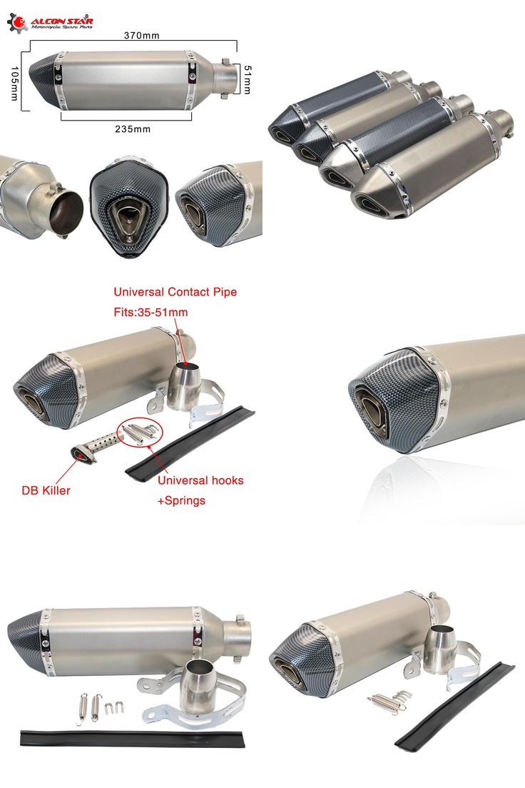 [Visit to Buy] Alconstar- Universal Modified Akrapovic Motorcycle Exhaust Muffler with DB Killer Dirt Street Bike Scooter ATV Exhaust Z750 TMAX #Advertisement