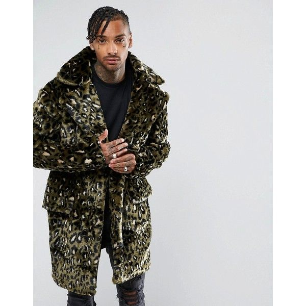 The New County Jacket In Leopard Teddy Faux Fur (3.290.310 IDR) ❤ liked on Polyvore featuring men's fashion, men's clothing, men's outerwear, men's jackets, green, mens leopard print jacket, mens leopard jacket, mens green jacket and mens faux fur jacket